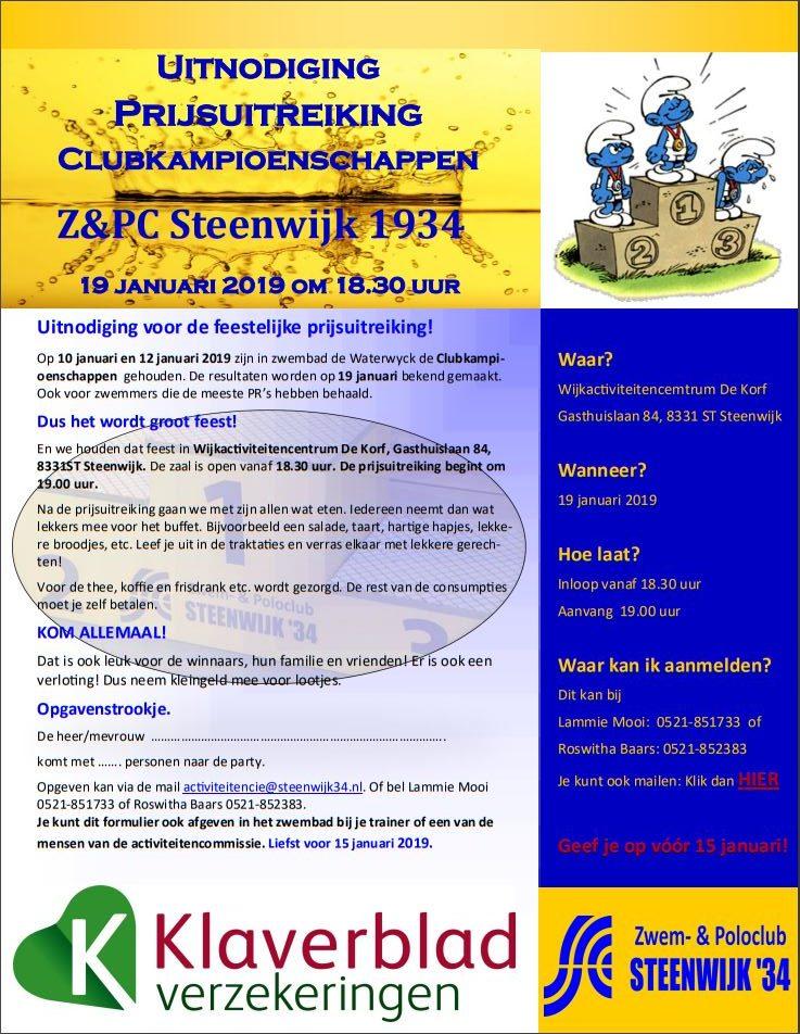 Uitnodiging Clubkampioenschappen
